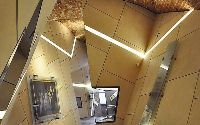 The interior of the Danish Jewish Museum, in Copenhagen (Photo by Joel Levinson)