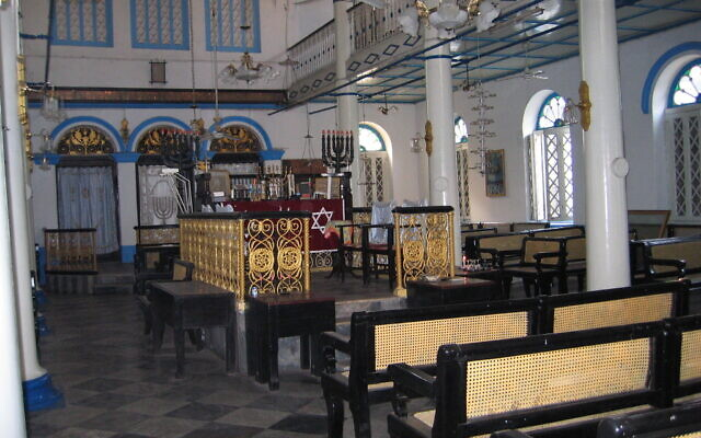 Inside the Musmeach Yeshua Synagogue in Yangon, Myanmar (Photo by Ben G. Frank)