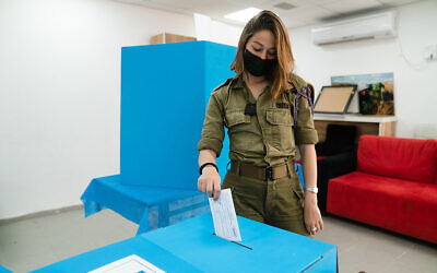 IDF soldiers and personnel throughout Israel went to to the polls to exercise their democratic right to vote.  Photo by Israel Defense Forces via Flickr.