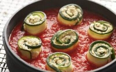 Vegan zucchini rolls (Photo by Bill Milne via Washington Jewish Week)