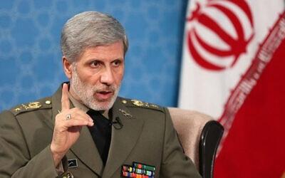 Iranian Defense Minister Gen. Amir Hatami (Credit: Wikipedia via JNS) I