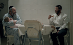 "Dovale Glickman, left, and Michael Aloni in a scene from Season 3 of ""Shtisel."" (Courtesy of Yes Studios via JTA)"