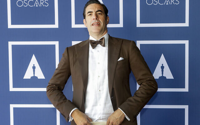 Sacha Baron Cohen attends a screening of the Oscars on Monday, April 26, 2021 in Sydney, Australia. (Photo by Rick Rycroft-Pool/Getty Images via JTA)