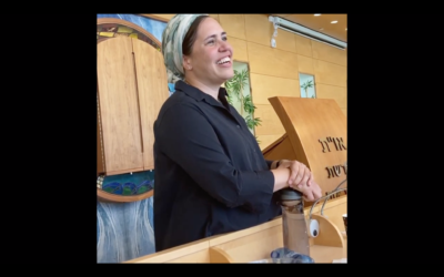 Rabbanit Shira Marili Mirvis will be the spiritual leader of Shirat Hatamar, an Orthodox synagogue in the West Bank settlement of Efrat. (Screenshot via JTA)