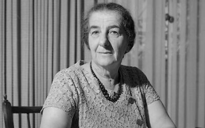 Golda Meir, Jan. 1964 (Photo by Willem van de Poll, CC BY-SA 3.0, via Wikimedia Commons)