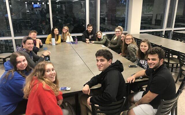 Penn State Hillel's JLF group, taken fall semester last year (Photo courtesy of Penn State Hillel)