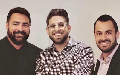 Brian Shanahan (left), Brian Gross (middle), Jon Halpern (right) started Pineapple Payments after meeting through Halpern and Gross' previous business, AthleteTrax. Photo courtesy of Pineapple Payments.