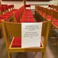 Temple David in Monroeville has readied their sanctuary to welcome members back post-COVID-19. Photo by Barbara Fisher.