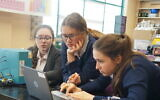 Yeshiva Girls High School students spend time together pre-pandemic  learning STEM and other valuable lessons. Now, they will have the opportunity to live together in a new dormitory, as well. Photo by Naama Teplitskiy.