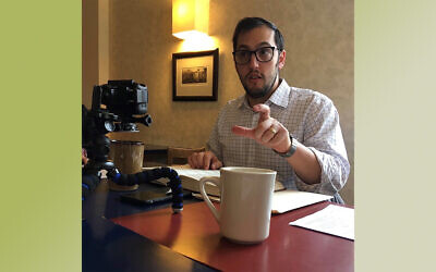 Rabbi Jeremy Markiz enjoyed his time teaching the Talmud in public and online. Photo provided by Rabbi Jeremy Markiz.