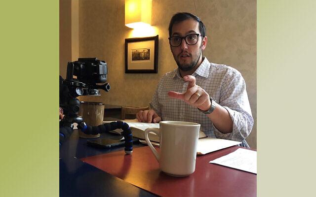 Rabbi Jeremy Markiz enjoyed his time teaching the Talmud in public and online. Photo provided by Rabbi Jeremy Markiz.