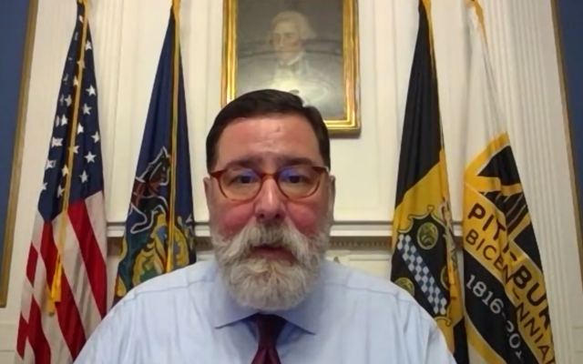 Mayor and mayoral candidate Bill Peduto.  Screenshot by Adam Reinherz