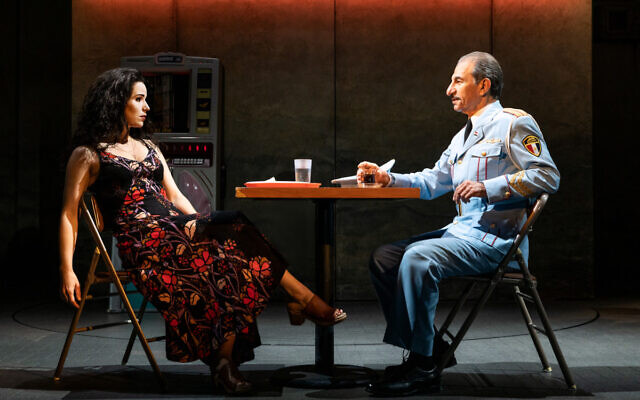 "Chilina Kenedy and Sasson Gabay in ""The Band's Visit"" (Photo by Matthew Murphy)"
