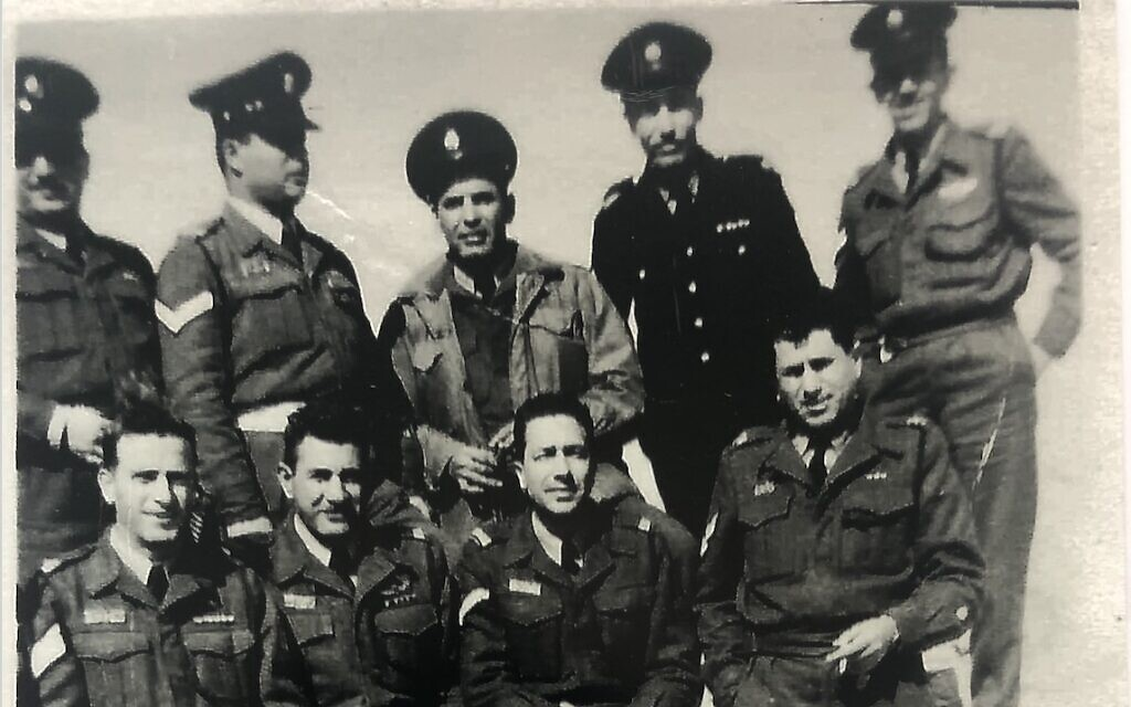 Amit Shimshi's Iraqi grandfather in the Palmach, second from the right, top row. (Photo courtesy of Amit Shimshi)