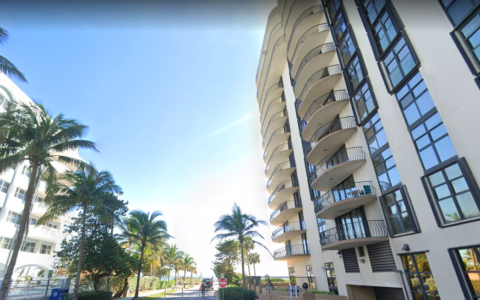 Champlain Towers condos in Surfside, Florida. (Screenshot of Google Maps)