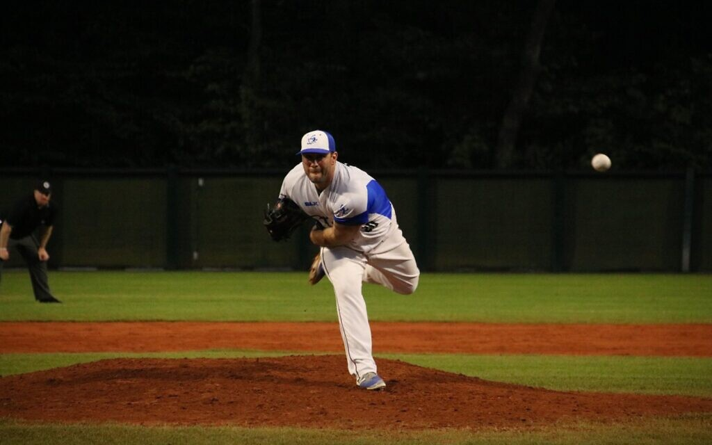 Jeremy Bleich, playing for Team Israel in 2019. (Photo courtesy of Team Israel)