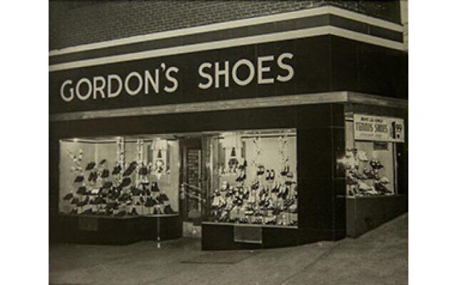 Gordon's Shoes storefront circa 1930. Photo courtesy of Chuck Gordon