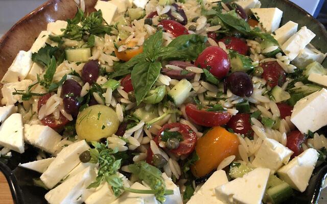 Mediterranean orzo salad (Photo by Jessica Grann)