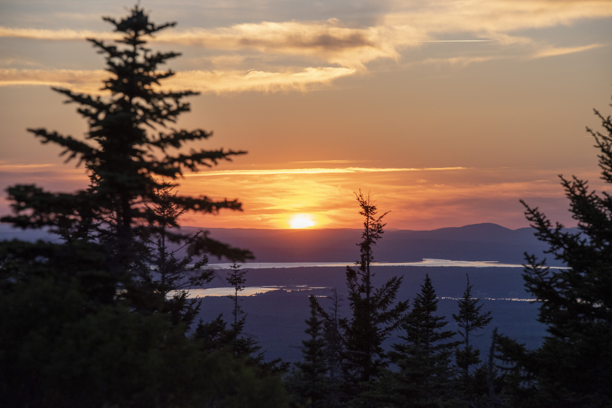 Sunset in Maine. Photo by Tracy Brien