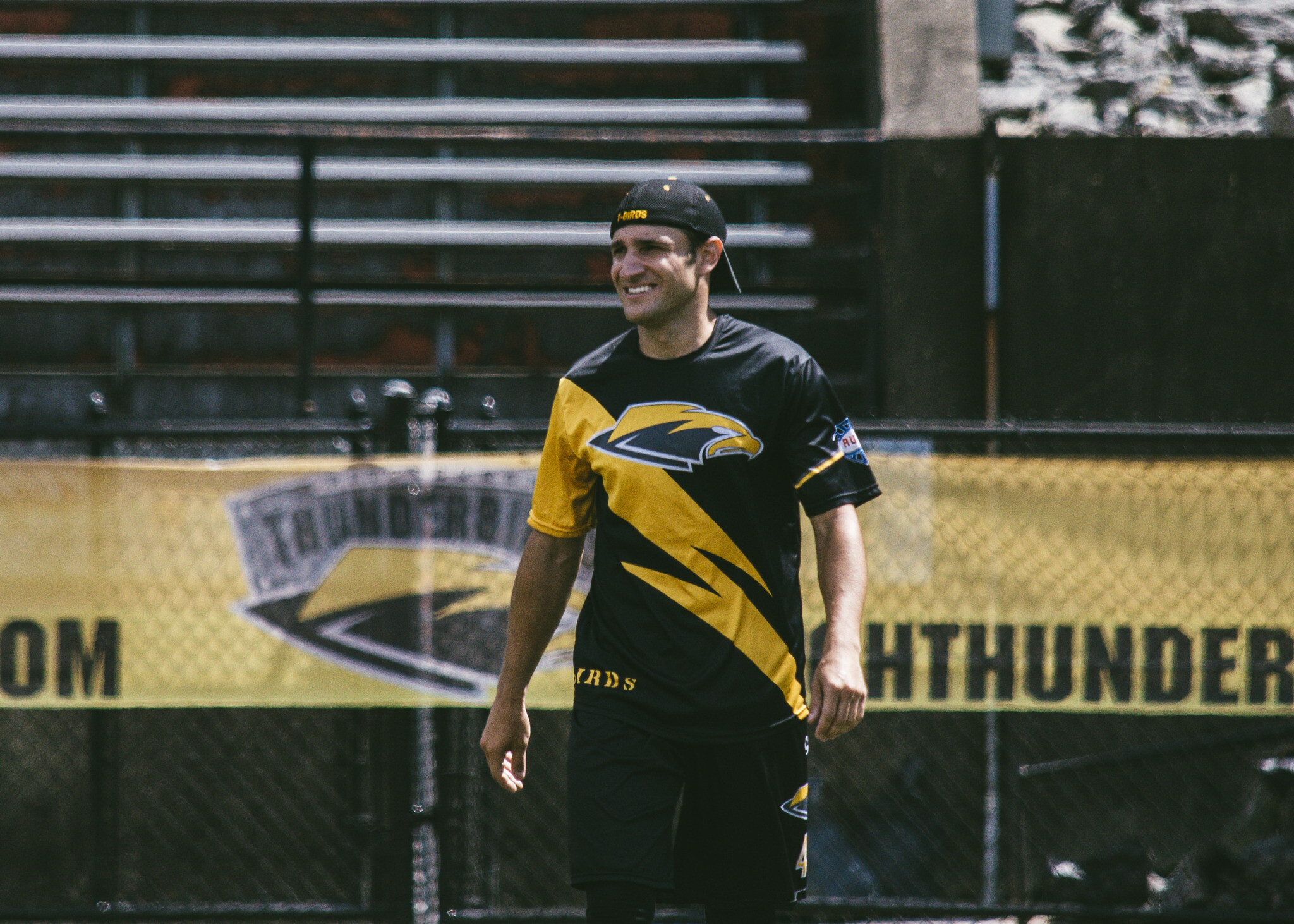 David Vatz looks toward the field at a Thunderbirds home game. Photo courtesy of Pittsburgh Thunderbirds.