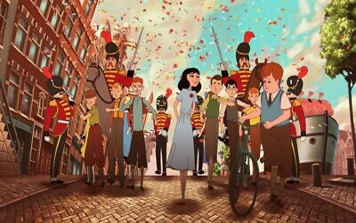 """""""Where Is Anne Frank"""" reimagines the famous diarist's life in animated form, with Israeli director Ari Folman partnering with the foundation that holds the copyright to her diary. (Courtesy of Purple Whale Films)"""