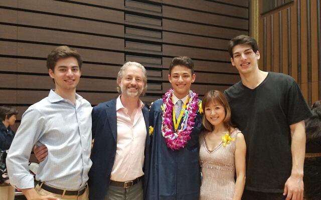The Schafer family gathers during Toki's June 2019 graduation.  Photo courtesy of Douglas Schafer