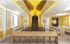 A digital rendering of the center's future synagogue. (Courtesy of The Jeffrey D. Schwartz & NaTang Jewish Taiwan Cultural Association)