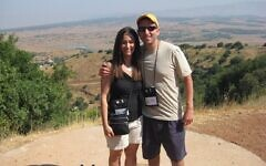 Stacey and Scott Seewald on a hike during one of the first days of the 2012 Mega Mission  (Photo courtesy of Scott Seewald)