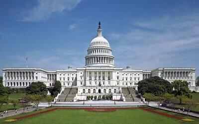 The U.S. Capitol building. (Credit: Martin Falbisoner via Wikimedia Commons via JNS)