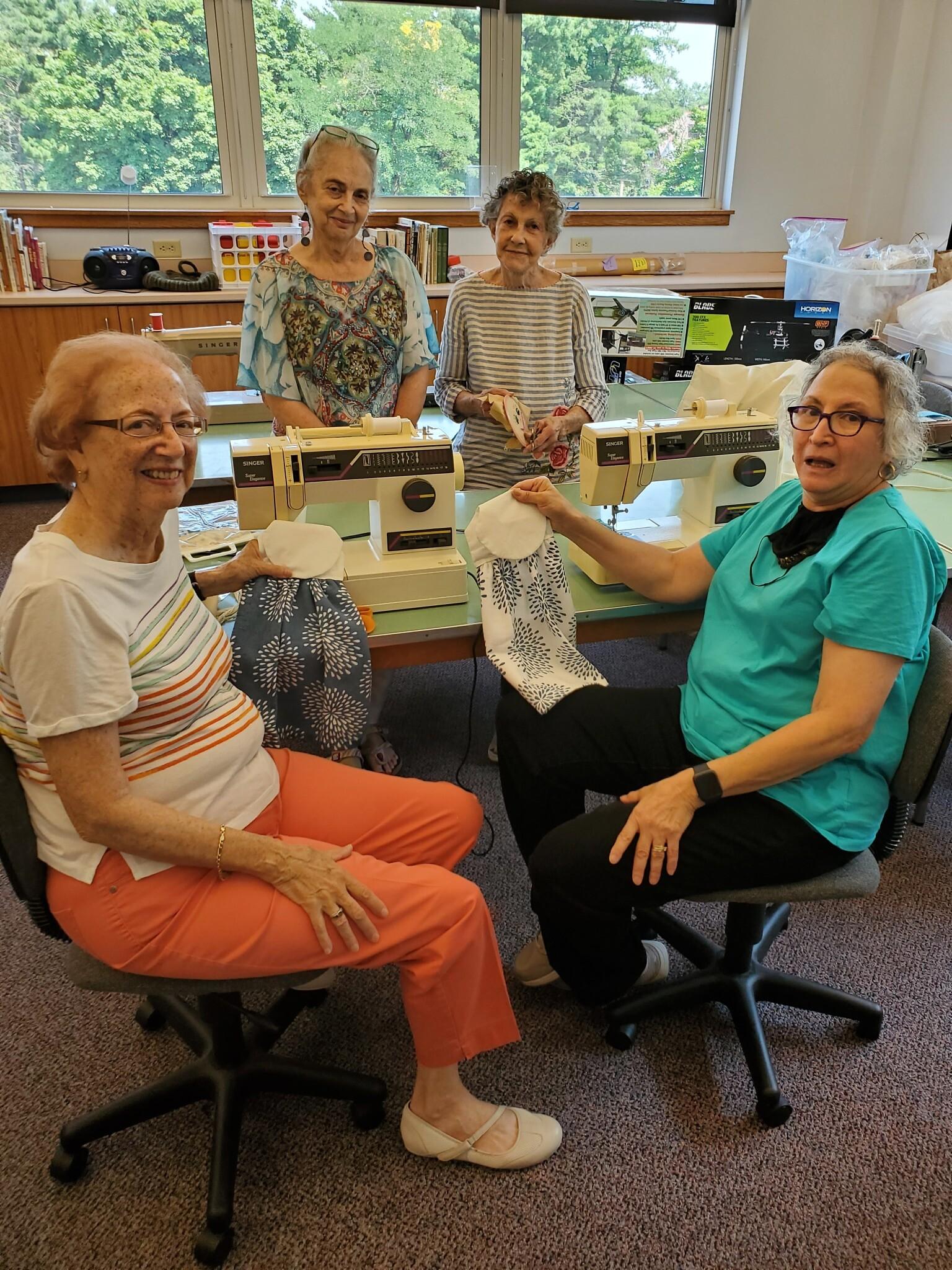 Left front row: Nancy Rosenthal and Susanne Gollin; Left back row: Caroline Liston and Phyllis Klein. Photo by Adam Reinherz