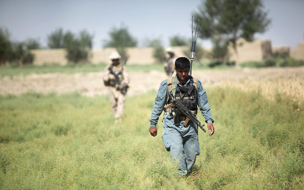 Despite spending years training Afghan security forces, the U.S. trained forces turned over Kabul and other cities to the Taliban when the U.S. pulled out of the country. (U.S. Marine Corps photo by Cpl. Kenneth Jasik)