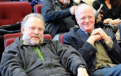 Ben Greenfield and Jerry Cohen, founders of Ben & Jerry's Ice Cream in 2010 (Dismas, CC BY-SA 3.0 creativecommons.org/licenses/by-sa/3.0>, via Wikimedia Commons)