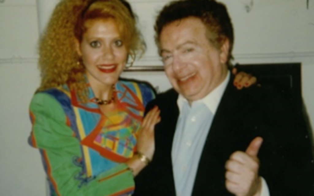 First time I met Jackie Mason, 1996. (Courtesy photo via The Times of Israel)
