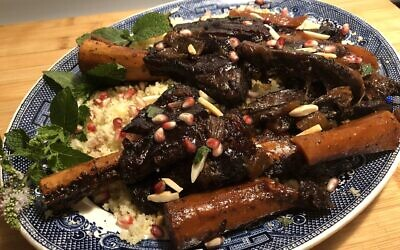 Pomegranate and date braised lamb shanks (Photo by Jessica Grann)