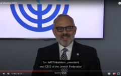 Jewish Federation of Greater Pittsburgh President and CEO Jeff Finkelstein presented a new strategic plan for the organization at is annual meeting Sunday, Sept. 12. Screenshot by David Rullo.