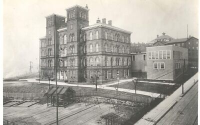 The old Central Hill School was located at the crest of Bedford Avenue, near the current site of the Energy Innovation Center in the Hill District. Willa Cather started teaching at the school in spring 1901. (Pittsburgh Public Schools Photographs, Detre Library & Archives)