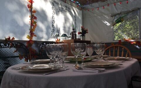 The view from Andy Reibach's sukkah where he will be welcoming guests this year. Photo by Andy Reibach.