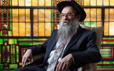 Rabbi Moishe Vogel at the Aleph Institute in Squirrel Hill Photo by Quinn Glabicki/PublicSource