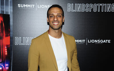 """Ari'el Stachel attends as Lionsgate with the Cinema Society host a screening of """"Blindspotting"""" at Angelika Film Center on July 16, 2018 in New York City.  (Photo by Paul Bruinooge/Patrick McMullan via Getty Images via JTA)"""