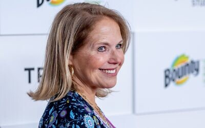 """Katie Couric attends the """"Turning Tables: Cooking, Serving, and Surviving In A Global Pandemic"""" premiere during the 2021 Tribeca Festival at Brookfield Place in New York City on June 18, 2021. (Roy Rochlin/Getty Images via JTA)"""