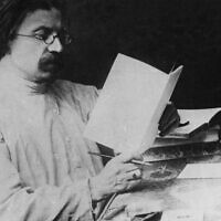 Sholom Aleichem, circa 1900. (FPG/Archive Photos/Getty Images via JTA)