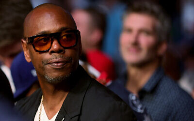 Dave Chappelle at T-Mobile Arena on July 10, 2021, in Las Vegas, Nevada. (Photo by Stacy Revere/Getty Images via JTA)
