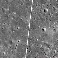 """NASA released photos of the crash area by SpaceIL's """"Beresheet"""" spacecraft, which failed to land on the moon, April 11, 2019. (NASA/GSFC/Arizona State University via JNS)"""