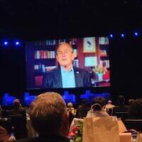 Former President George W. Bush was a keynote speaker at the Eradicate Hate Global Summit Photo by David Rullo
