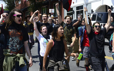 Over a thousand white supremacist neo-Nazi and neo-Confederate activists gathered for a Unite The RIght rally in  Charlottesville, Virginia. Photo by Stephen Melkisethian, courtesy of flickr.com