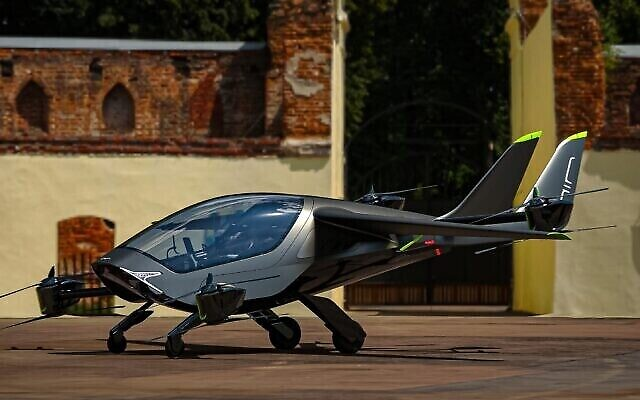 Israeli startup AIR developed an eVTOL aircraft called AIR ONE for consumer use. (Photo courtesy of AIR via The Times of Israel)