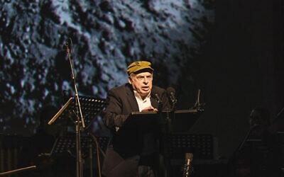 Natan Sharansky speaks in Kyiv, Ukraine on Oct. 6, 2021. Photo courtesy of Babyn Yar Holocaust Memorial Center
