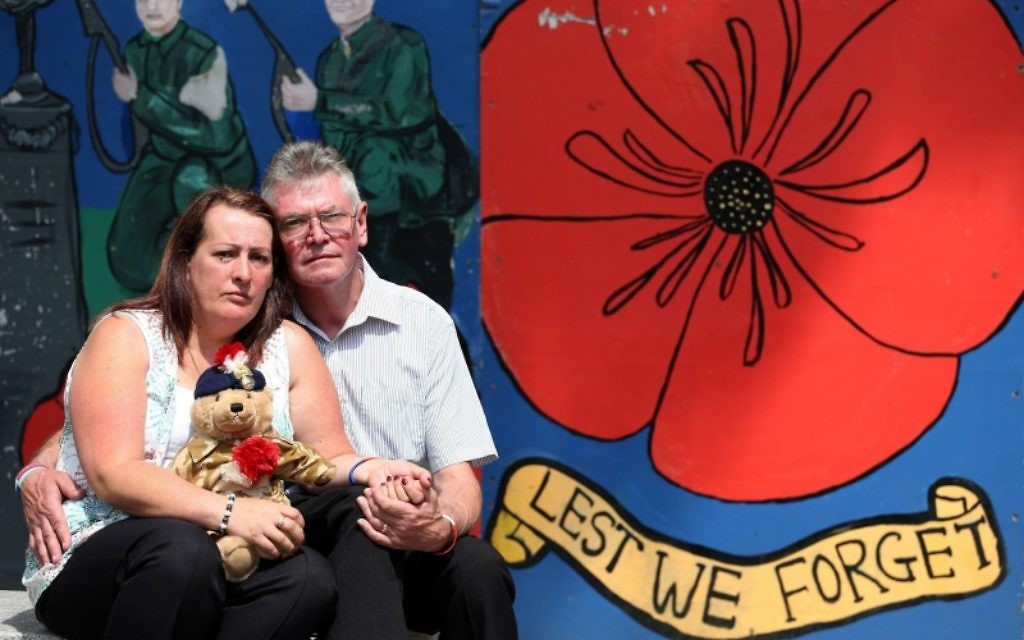 Ian and Lyn Rigby, step-father and mother of murdered soldier Lee Rigby,.