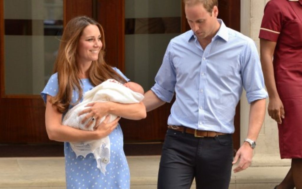 WIlliam and Kate leaving hospital on Tuesday night with their new baby boy
