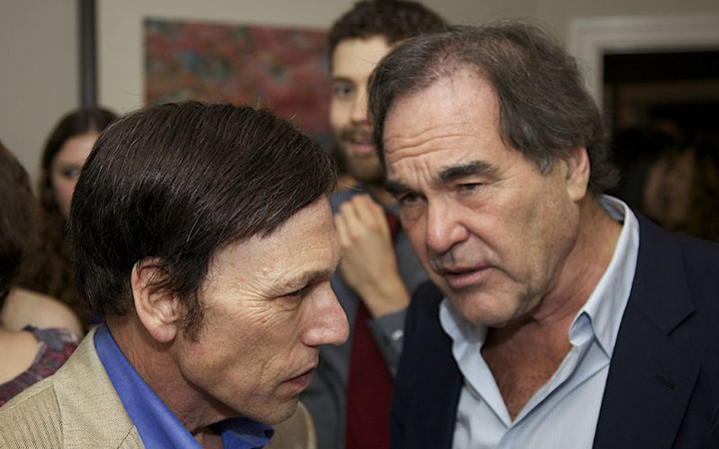Peter Kuznick and Oliver Stone. Credit: PA Photo